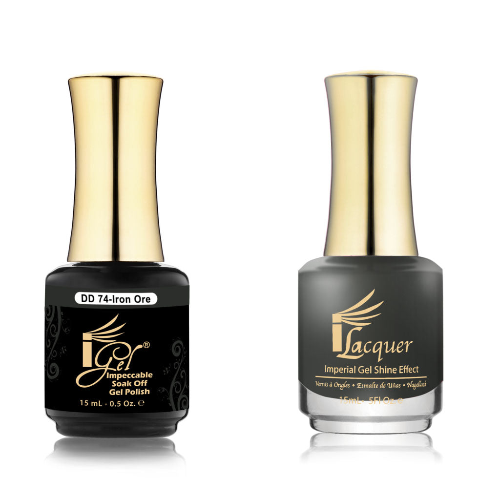 IGel Nail lacquer and gel polish matching - 074 IRON ORE