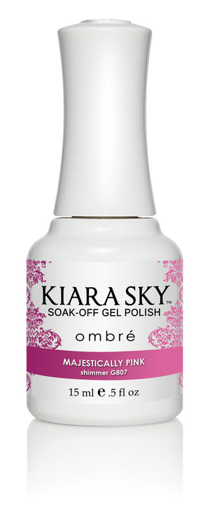 Kiara Sky Mood Changing Gel Polish Ombre UV/LED 0.5 fl oz - G807 MAJESTICALLY PINK