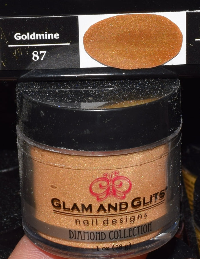 Glam & Glits - DIAMOND Acrylic Powder 1 oz - DAC87 GOLDMINE
