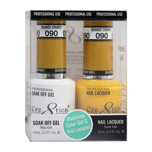 Cre8tion Soak Off Gel & Matching Nail Lacquer Set | 090 Fast Taxi