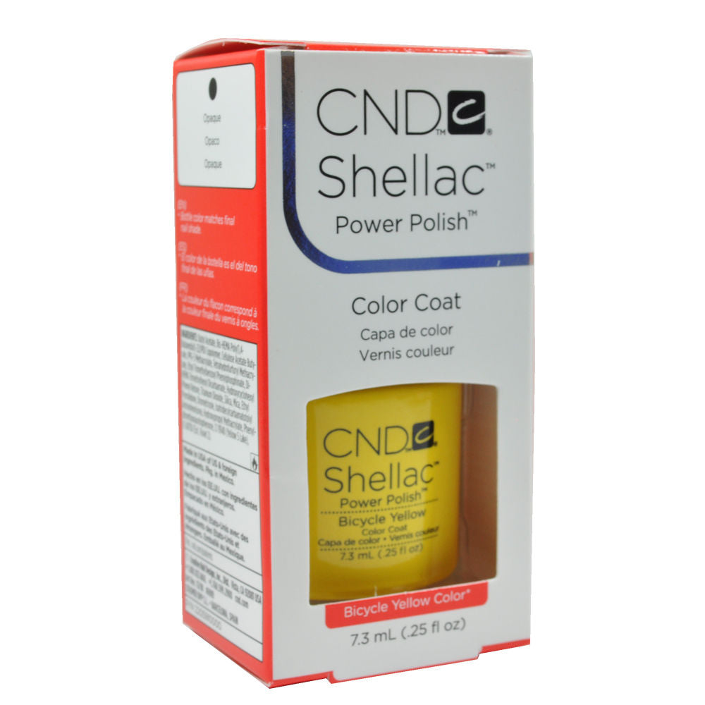 CND Shellac UV Soak off Gel Polish 0.25 oz | Bicycle Yellow