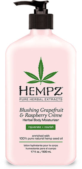 Hempz Lotion Pure Herbal Body Moisturizers 17 fl oz - BLUSHING GRAPEFRUIT & RASPBERRY CRÈME
