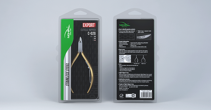 Nghia Export - Stainless Steel Cuticle Nipper C-02G Jar 14