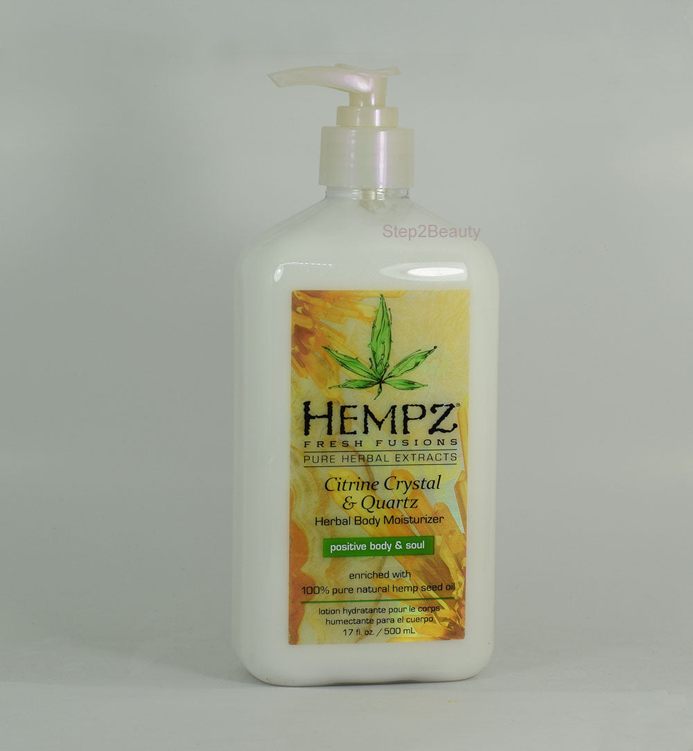 Hempz Lotion Pure Herbal Body Moisturizers 17 fl oz - Citrine Crystal & Quartz