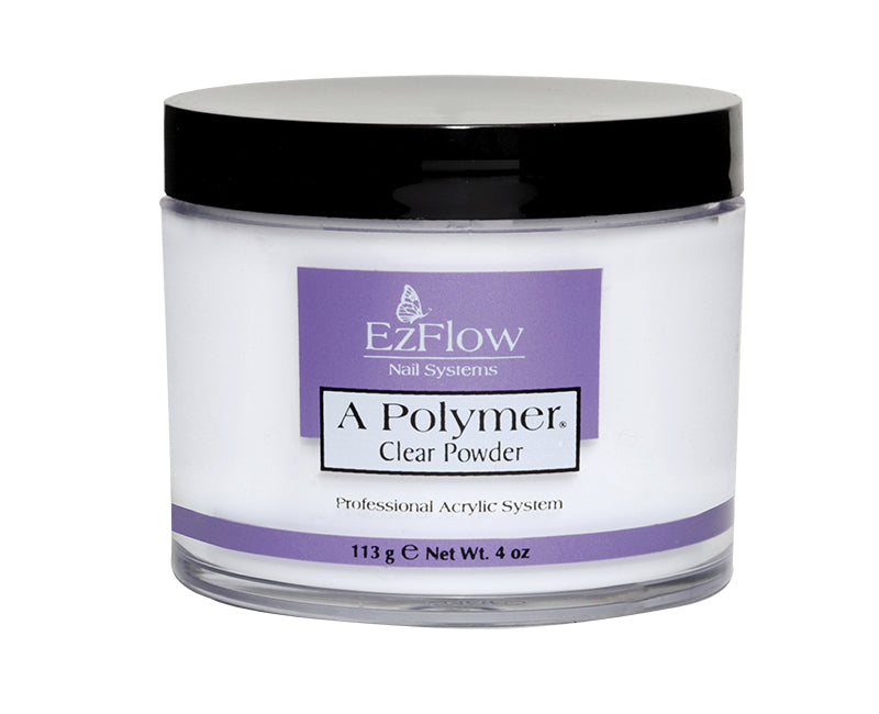 Ezflow Acrylic Powder - A Polymer CLEAR 4 oz