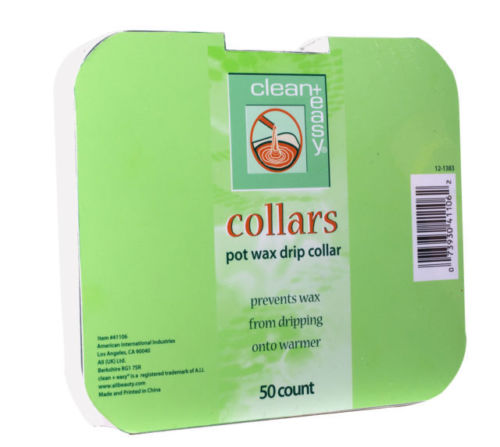 Clean & Easy Deluxe Pot Wax Collars, 50 Count