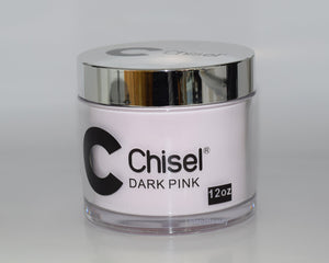Chisel Nail Art 2 in 1 Acrylic Dipping Powder - Dark Pink Refill 12 oz