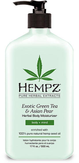 Hempz Lotion Pure Herbal Body Moisturizers 17 fl oz - EXOTIC GREEN TEA & ASIAN PEAR
