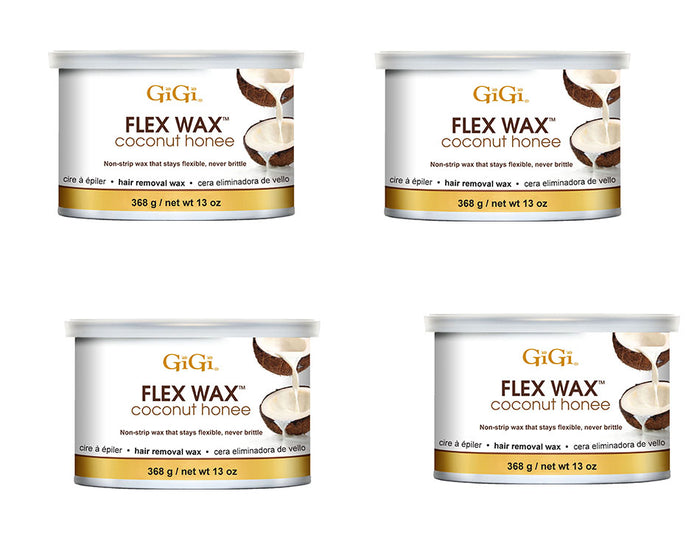 Gigi Wax Pot 14 oz | FLEX WAX COCONUT HONEE (pack of 4)