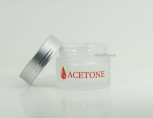 Frosted Glass Jar - 2 oz - Acetone