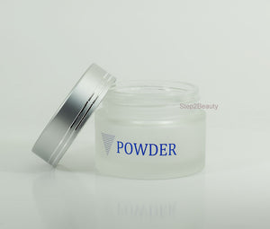 Frosted Glass Jar - 2 oz - Powder