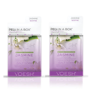 VOESH Pedi In A Box Deluxe 4 Step | JASMINE SOOTHE (Pack of 2 sets)