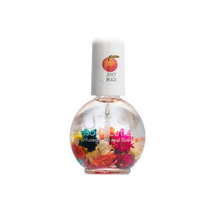 Blossom Scented Cuticle Oil Infused With Real Flowers 0.42 fl oz - JUICY PEACH