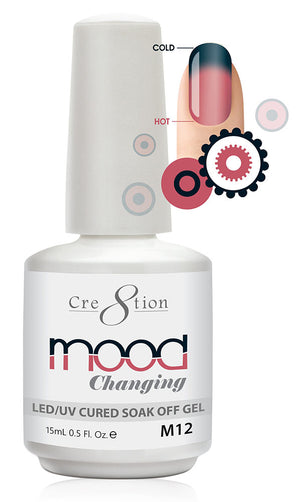 Cre8tion Mood Changing Soak Off Gel UV/LED 0.5 fl oz - M12