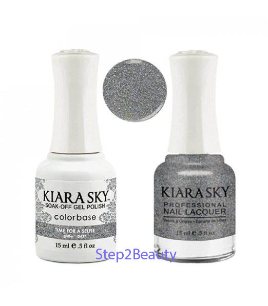Kiara Sky Gel Polish + Matching Nail Lacquer - #437 TIME FOR A SELFIE