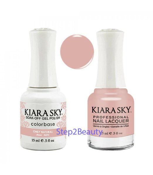 Kiara Sky Gel Polish + Matching Nail Lacquer - #492 ONLY NATURAL