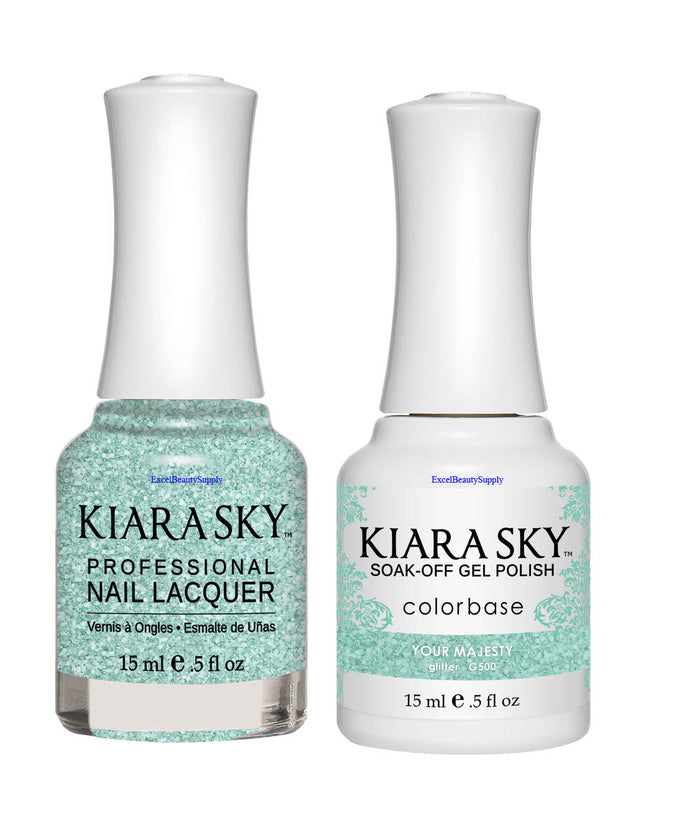 Kiara Sky Gel Polish + Matching Nail Lacquer - #500 YOUR MAJESTY