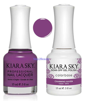 Kiara Sky Gel Polish + Matching Nail Lacquer - #516 CHARMING HAVEN
