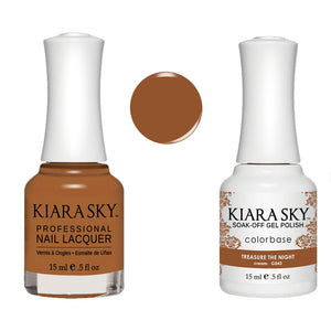 Kiara Sky Gel Polish + Matching Nail Lacquer - #543 TREASURE THE NIGHT