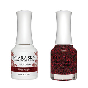 Kiara Sky Gel Polish + Matching Nail Lacquer - #552 DREAM ILLUSION