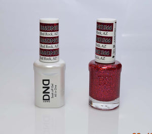 DND - Soak Off Gel Polish & Matching Nail Lacquer Set - #566 RED ROCK, AZ