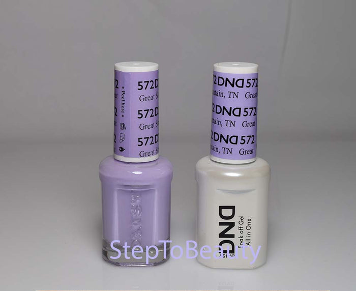 DND - Soak Off Gel Polish & Matching Nail Lacquer Set - #572 GREAT SMOKY MOUNTAIN, TN