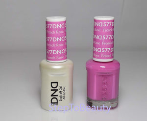 DND - Soak Off Gel Polish & Matching Nail Lacquer Set - #577 FRENCH ROSE
