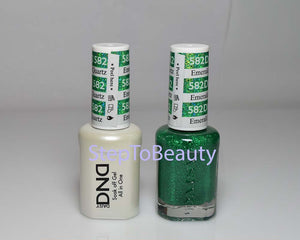 DND - Soak Off Gel Polish & Matching Nail Lacquer Set - #582 EMERALD QUARTZ