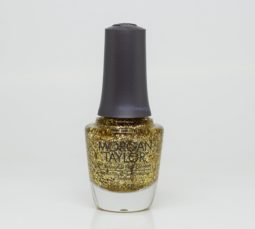 Morgan Taylor Professional Nail Lacquer 0.5 Oz #3110947 ALL THAT GLITTERS IS GOL