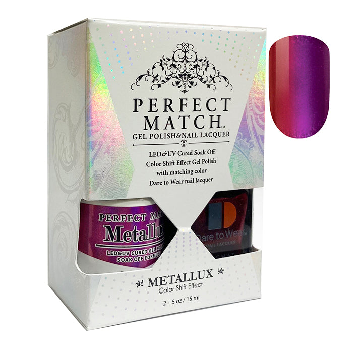 CLeChat Perfect Match Metallux Soak off Gel Polish +Nail Lacquer #MLMS10 Phoenix