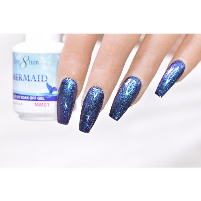Cre8tion Mermaid Soak Off gel UV/LED 0.5 fl oz - MM01
