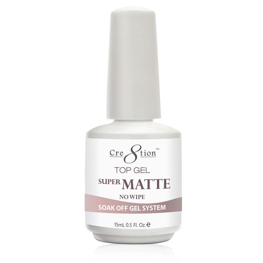 Cre8tion Soak Off Gel Top Coat Super Matte No Wipe 0.5 fl oz