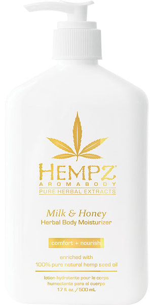 Hempz Lotion Pure Herbal Body Moisturizers 17 fl oz - MILK & HONEY
