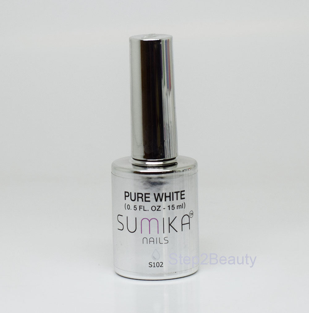 Sumika Soak Off Gel Polish UV/LED 0.5 oz | PURE WHITE