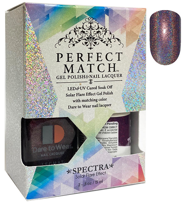 CLeChat Perfect Match Spectra Soak off Gel + Nail Lacquer #SPMS12 Outer Space