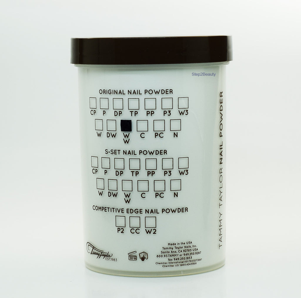 Tammy Taylor  Acrylic Nail Powder Polymer Original  - WW - Whitest White 14.75 oz