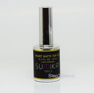 Sumika Soak Off Gel Polish UV/LED 0.5 oz No Cleanse | VELVET MATTE TOP COAT
