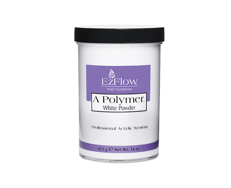 Ezflow Acrylic Powder A Polymer | 	 16 oz White