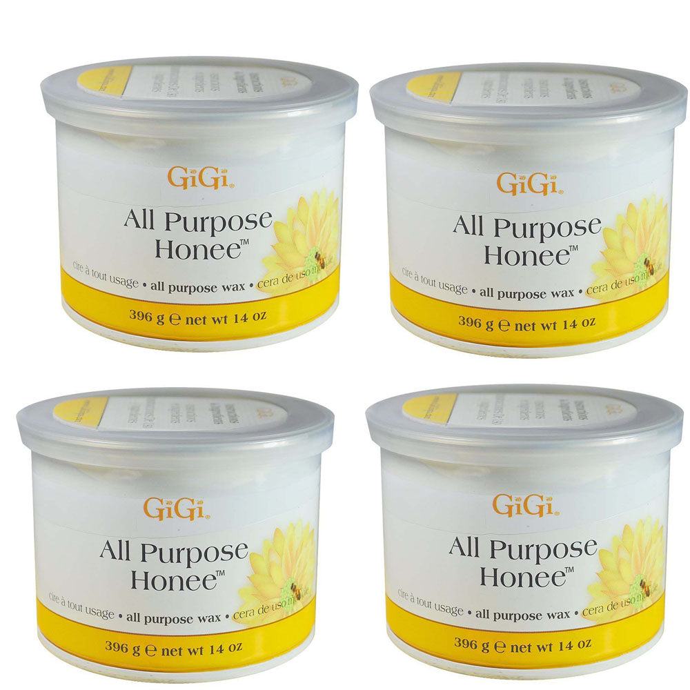Gigi Wax Pot 14 oz | ALL PURPOSE HONEE (pack of 4)