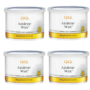Gigi Wax Pot 13 oz | AZULENE WAX (pack of 4)