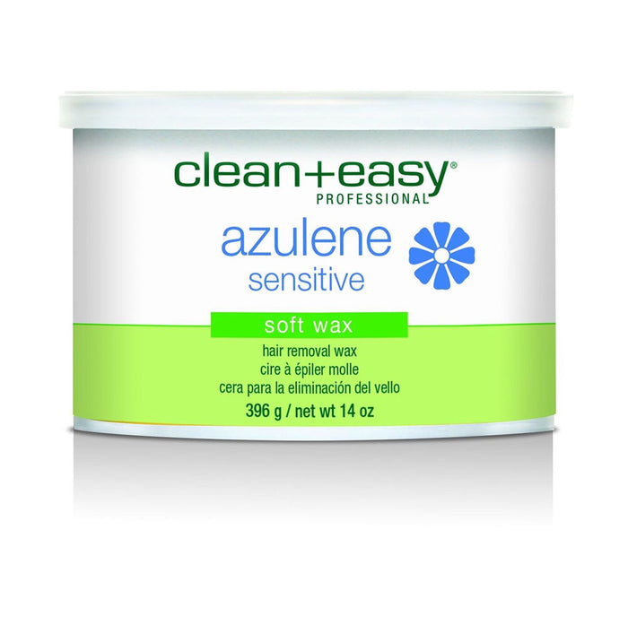 Clean and Easy Wax Hair Removal 14 oz | Azulene Sensitive soft wax