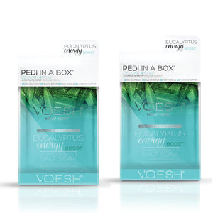 VOESH Pedi In A Box Deluxe 4 Step | EUCALYPTUS ENERGY BOOST (Pack of 2 sets)