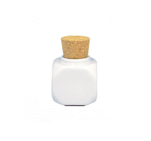 DL Professional Porcelain Jar with Cork white DL - C523