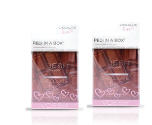 VOESH Pedi In A Box Deluxe 4 Step | CHOCOLATE LOVE (Pack of 2 sets)