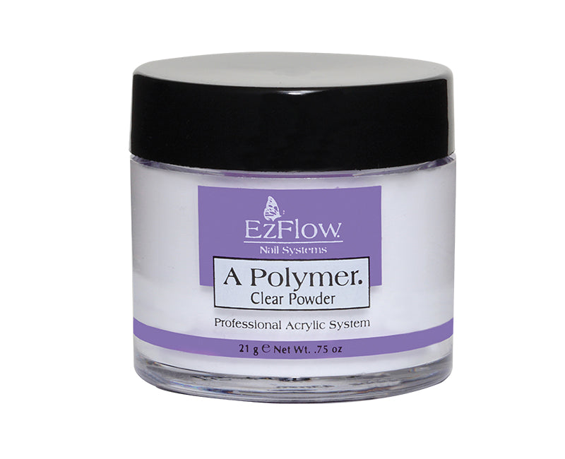 Ezflow Acrylic Powder A Polymer | 0.75 oz CLEAR