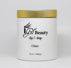 IGel Beauty Dip & Dap Powder - CLEAR 16 oz
