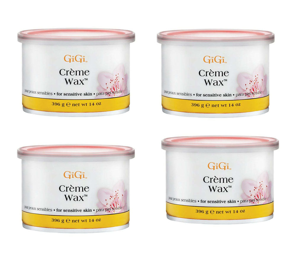 Gigi Wax Pot 14 oz | CRÈME WAX (pack of 4)