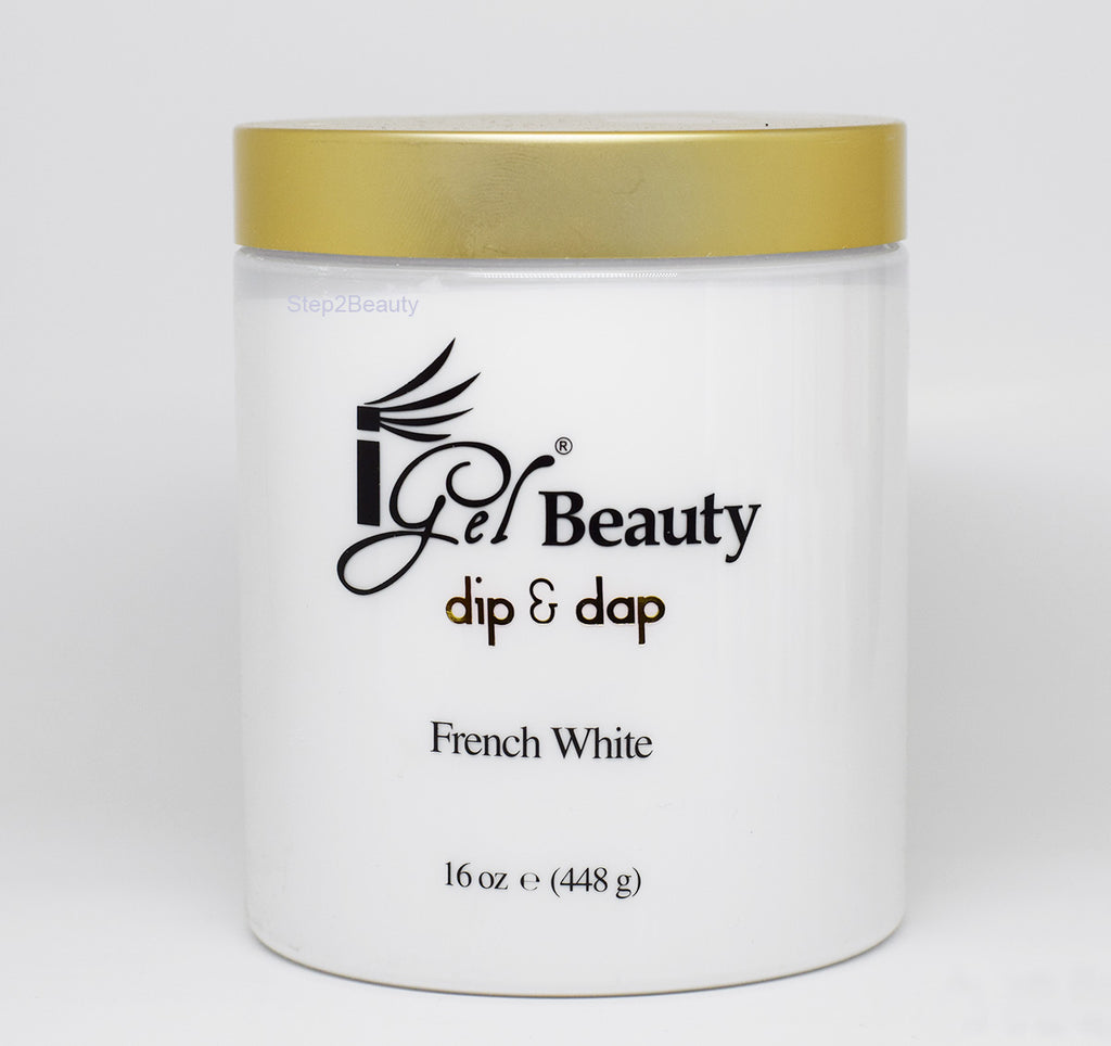 IGel Beauty Dip & Dap Powder - FRENCH WHITE 16 oz