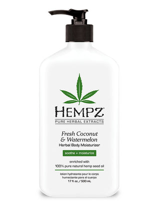 Hempz Lotion Pure Herbal Body Moisturizers 17 fl oz - FRESH COCONUT & WATERMELON