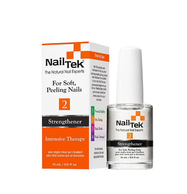NailTek #2 For Soft, Peeling Nails Strengthener Intensive Therapy 0.5 oz